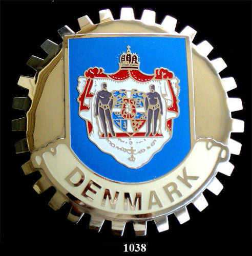 DENMARK COAT OF ARMS BADGE EMBLEM FOR CAR