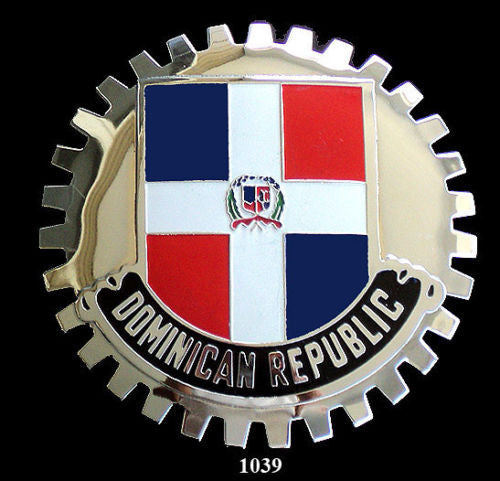 DOMINICAN REPUBLIC CAR GRILLE BADGE EMBLEM