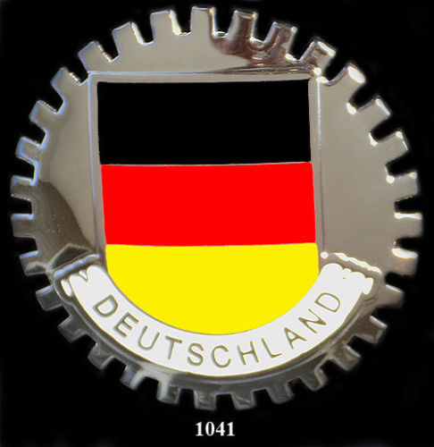 DEUTSCHLAND FLAG CAR GRILLE BADGE EMBLEM GERMANY
