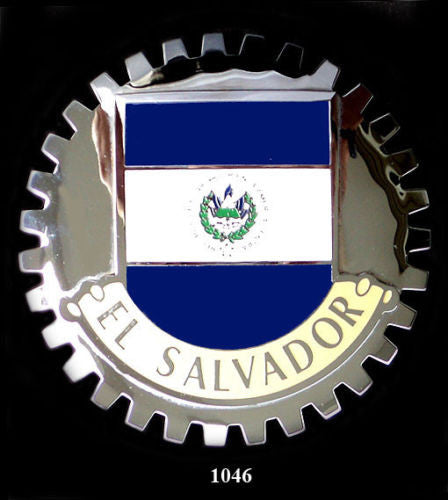 EL SALVADORE FLAG CAR GRILLE BADGE EMBLEM