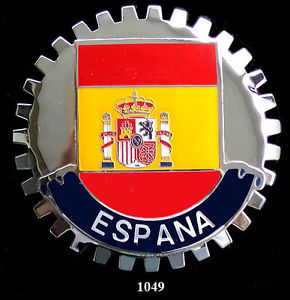 FLAG OF SPAIN CAR GRILLE BADGE EMBLEM