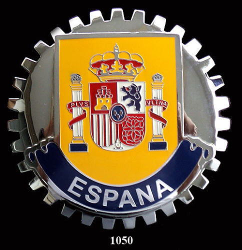 SPAIN COAT OF ARMS ESPANA CAR GRILLE BADGE EMBLEM