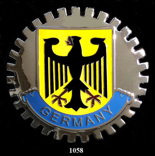 GERMANY EAGLE CREST CAR GRILLE BADGE EMBLEM
