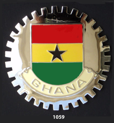 GHANA FLAG CAR GRILLE BADGE EMBLEM