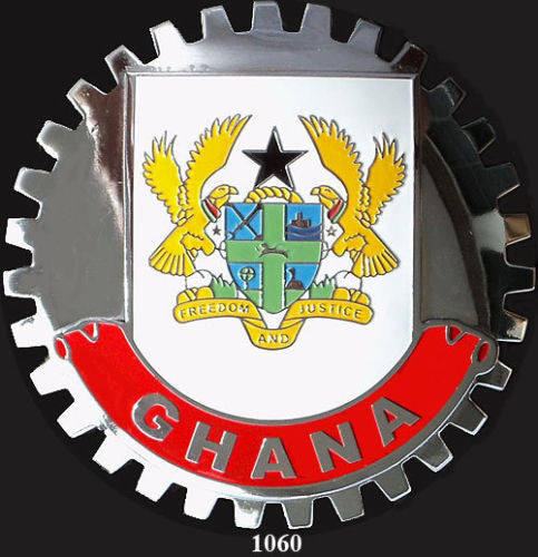 GHANA COAT OF ARMS CREST CAR GRILLE BADGE EMBLEM