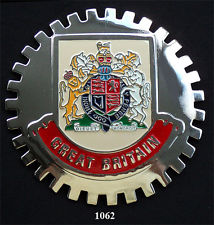 GREAT BRITAIN COAT OF ARMS CREST CAR GRILLE BADGE EMBLEM