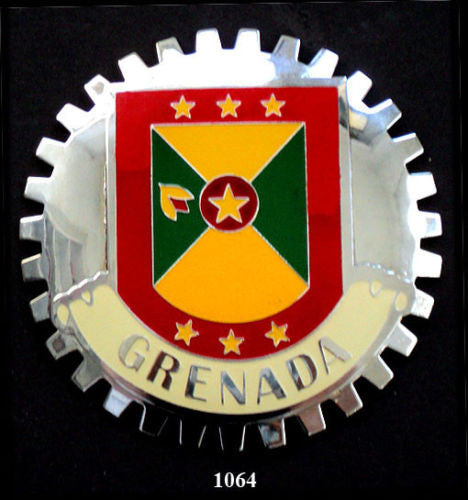 GRENADA FLAG CAR GRILLE BADGE EMBLEM