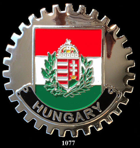 HUNGARY FLAG CAR GRILLE BADGE EMBLEM