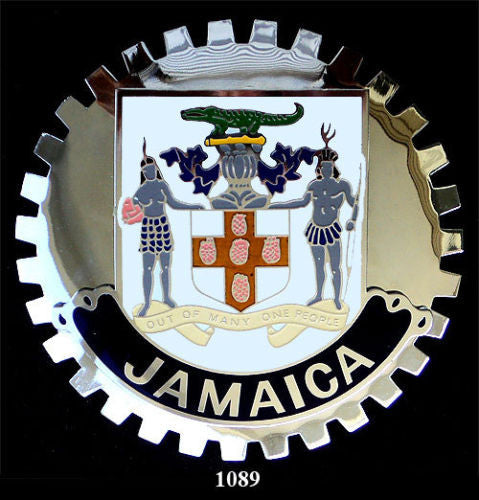 JAMAICAN COAT OF ARMS CREST CAR BADGE EMBLEM