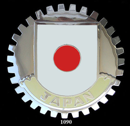 JAPANESE FLAG CAR GRILLE BADGE EMBLEM RISING SUN