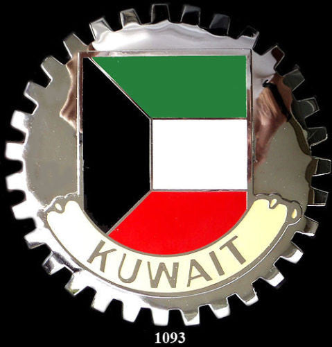 FLAG OF KUWAIT CAR GRILLE BADGE EMBLEM