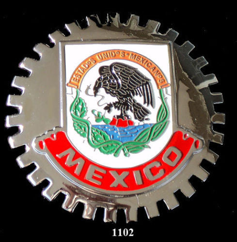 MEXICO CREST AUTOMOBILE GRILLE BADGE EMBLEM