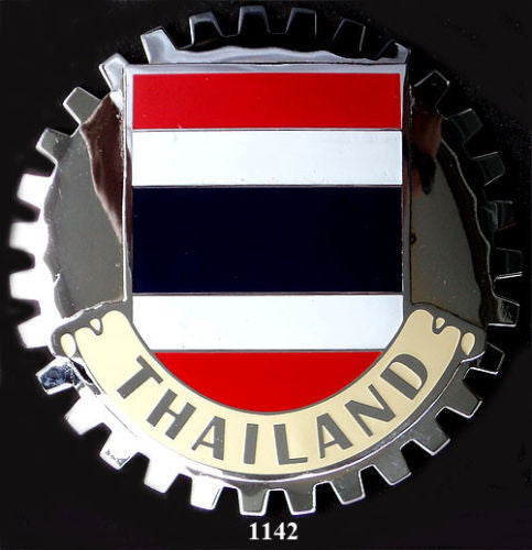 THAILAND FLAG CAR GRILLE BADGE EMBLEM
