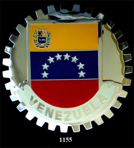 VENEZUELAN FLAG BADGE CAR GRILLE EMBLEM