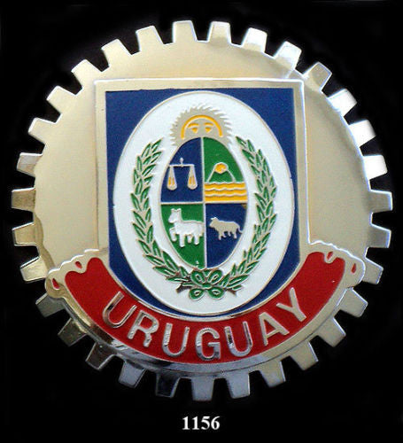 URUGUAY COAT OF ARMS BADGE CAR GRILLE EMBLEM