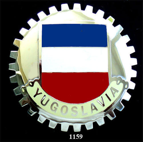 HISTORIC YUGOSLAVIA FLAG BADGE CAR GRILLE EMBLEM