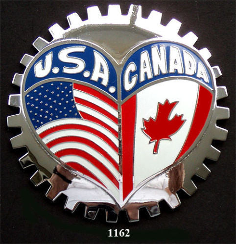 CANADIAN AMERICAN HERITAGE CAR GRILLE BADGE EMBLEM