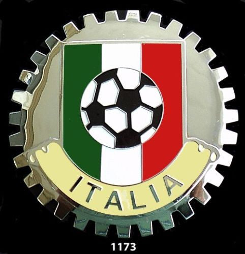 ITALIA SOCCER CAR BADGE EMBLEM FOR GRILLE ITALY
