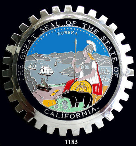 CALIFORNIA STATE SEAL CAR BADGE EMBLEM