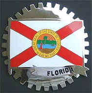 FLORIDA STATE FLAG CAR TRUCK GRILLE BADGE EMBLEM