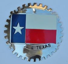 TEXAS STATE FLAG CAR GRILLE BADGE EMBLEM