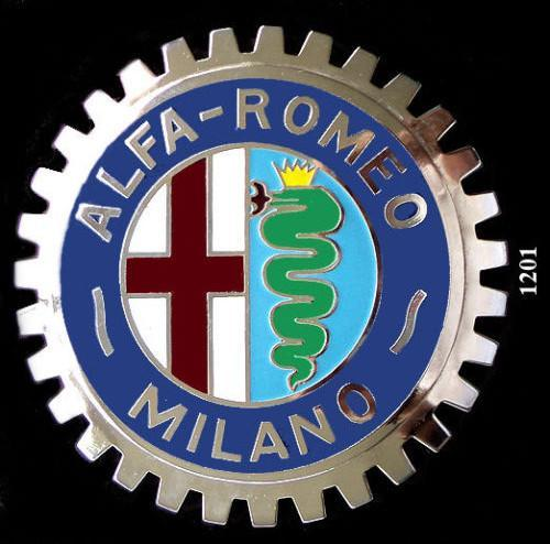 ALFA ROMEO CAR GRILLE BADGE EMBLEM