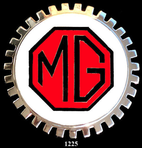 MG AUTOMOBILE LOGO BADGE RED AND BLACK