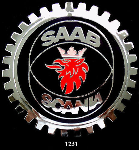 SAAB SCANIA CAR GRILLE BADGE EMBLEM