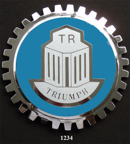 VINTAGE TRIUMPH AUTOMOBILE GRILLE BADGE EMBLEM