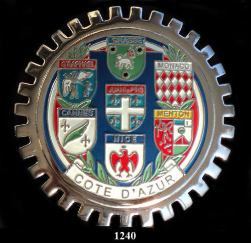 COTE D'AZUR COAT OF ARMS CAR GRILLE BADGE