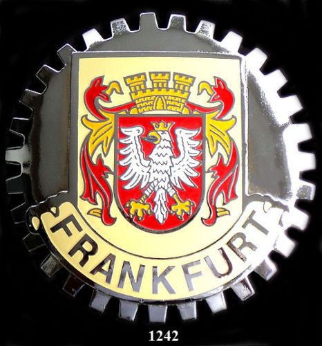 FRANKFURT GERMANY CAR GRILLE BADGE EMBLEM