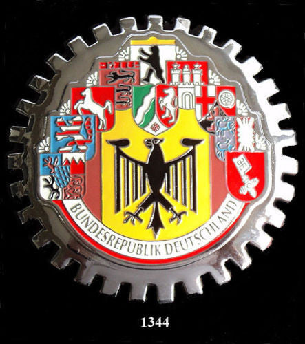 GERMAN TEN CITIES COAT OF ARMS CAR BADGE EMBLEM