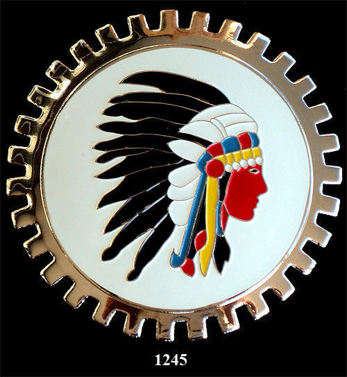 AMERICAN INDIAN HERITAGE CAR BADGE EMBLEM