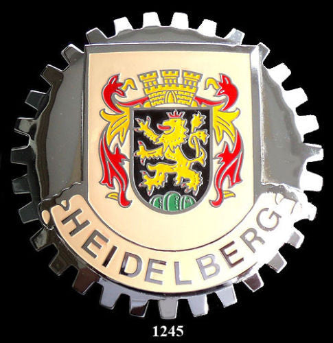 HEIDELBERG GERMANY COAT OF ARMS CAR BADGE EMBLEM