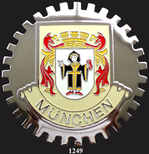 MUNCHEN GERMANY CAR GRILLE BADGE EMBLEM MUNICH
