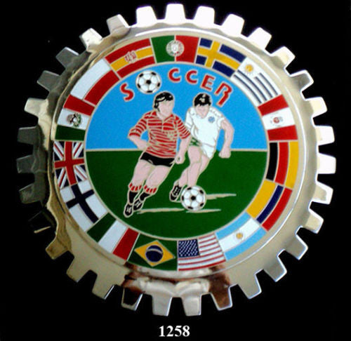 INTERNATIONAL SOCCER BADGE EMBLEM FOR CAR GRILLE