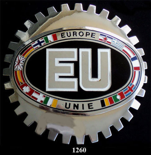 EU EUROPEAN UNION BADGE CAR GRILLE EMBLEM