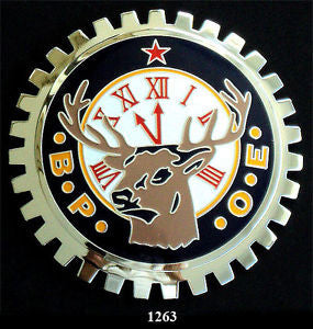 B.P.O.E. ELKS CAR BADGE EMBLEM