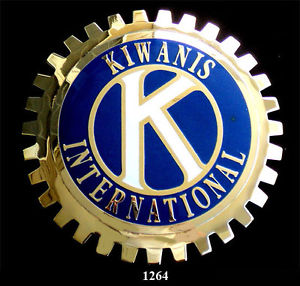 KIWANAS INTERNATIONAL AUTOMOBILE GRILLE BADGE