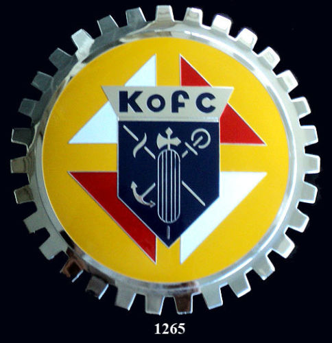 KNIGHTS OF COLUMBUS CAR GRILLE BADGE EMBLEM