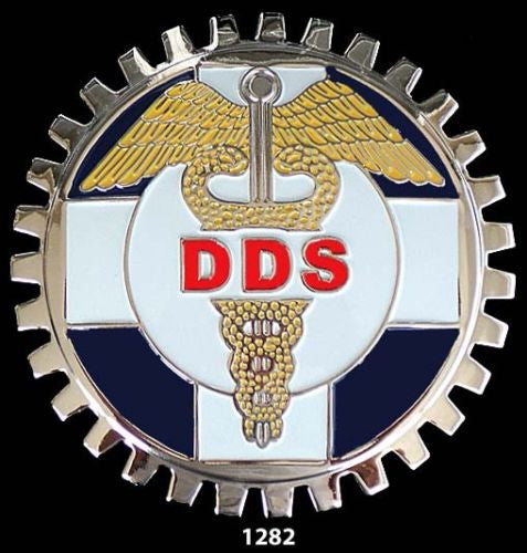 DDS SYMBOL CAR GRILLE BADGE EMBLEM DENTIST