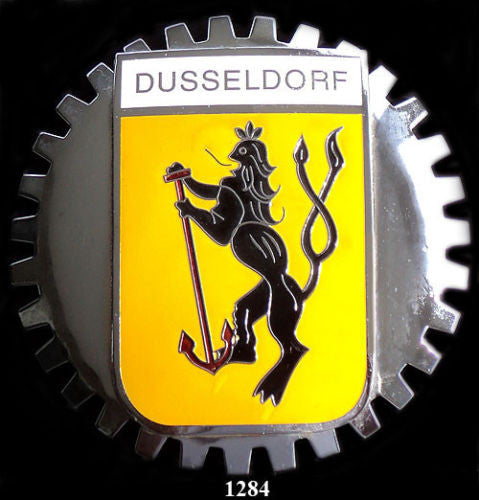 DUSSELDORF GERMANY COAT OF ARMS CAR BADGE EMBLEM