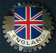 ENGLAND FLAG UNION JACK CAR GRILLE BADGE EMBLEM