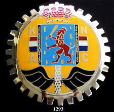NETHERLANDS CREST AUTOMOBILE GRILLE BADGE EMBLEM