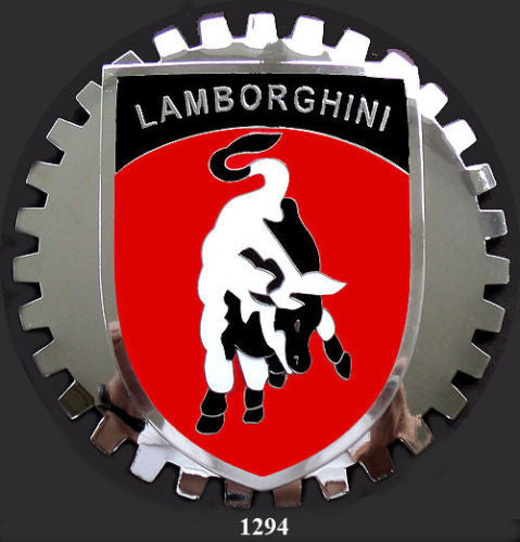 LAMBORGHINI BULL SHIELD CREST CAR GRILLE HOOD BADGE EMBLEM