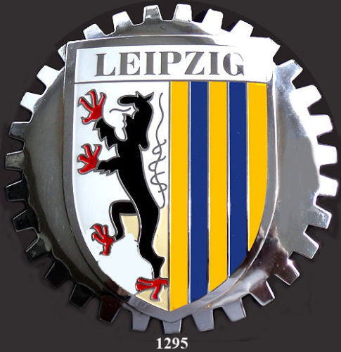 LEIPZIG GERMANY AUTOMOBILE GRILLE BADGE EMBLEM