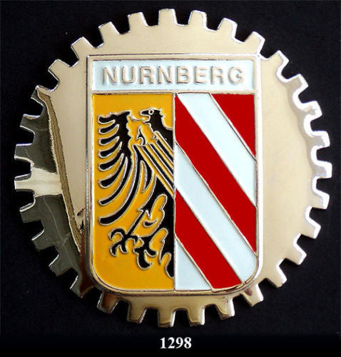 NURNBERG GERMANY COAT OF ARMS CAR GRILLE BADGE EMBLEM