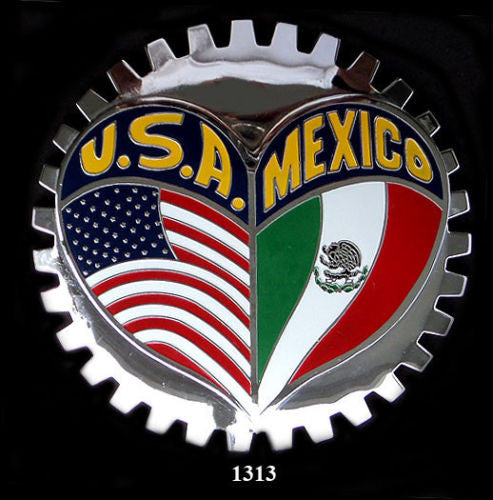 MEXICAN AMERICAN HERITAGE BADGE EMBLEM FOR CAR TRUCK