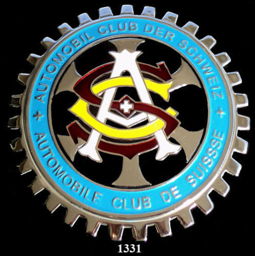 AUTOMOBILE CLUB OF SWITZERLAND GRILLE BADGE EMBLEM