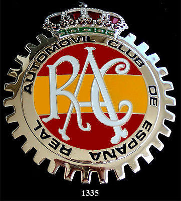 RAC SPAIN ESPANA CAR GRILLE BADGE EMBLEM
